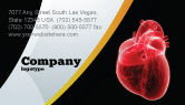 Medical: Model Of Heart Business Card Template #07662