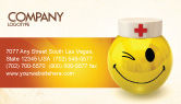 Medical: Doctor Emoticon Business Card Template #07777