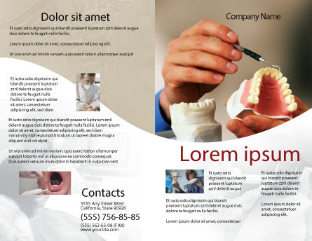 Denture Brochure Template Outer Page