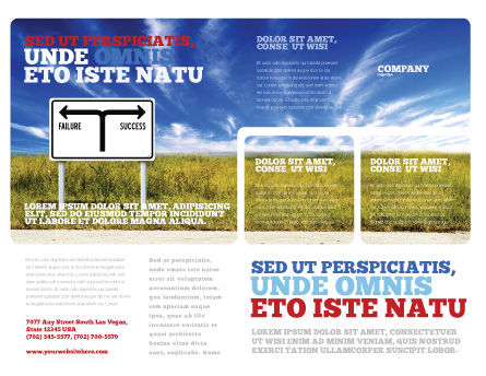Successful way brochure template design and layout for Successful brochure design