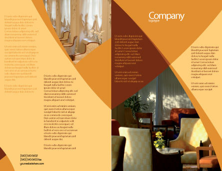 Hotel Restaurant Brochure Template Outer Page