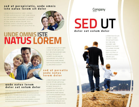 Father and Kids Brochure Template Outer Page