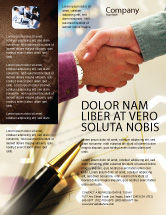 Business: Signing Agreement Flyer Template #00925
