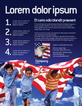 America: Children Of The USA Flyer Template #02377