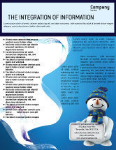 Holiday/Special Occasion: Smiling Snowman Flyer Template #02857