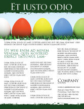 Holiday/Special Occasion: Easter Eggs Flyer Template #03396