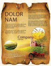 Agriculture and Animals: Life On The Farm Flyer Template #04698