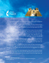 Religious/Spiritual: San Francisco de Asisi Mission Church Letterhead Template #01655