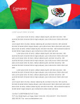 Flags/International: Mexican Flag Letterhead Template #01716