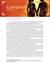People: Couple Walking To Sunset Letterhead Template #02058