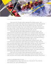 Sports: Rafting Letterhead Template #02380