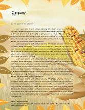 Agriculture and Animals: Free Corn Thanksgiving Letterhead Template #02821