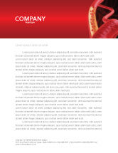 Medical: Red Blood Cells Letterhead Template #02953