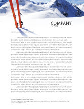 Sports: Skis Letterhead Template #04169