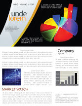 Financial/Accounting: Pie Chart Newsletter Template #02458