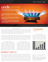 Careers/Industry: Gas Stove Newsletter Template #03675
