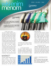 Careers/Industry: Gasoline Newsletter Template #04391