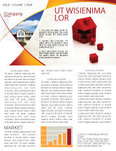 Construction: 3D Cubes Building Newsletter Template #04463