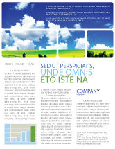 Nature & Environment: Sunny Landscape Newsletter Template #04863
