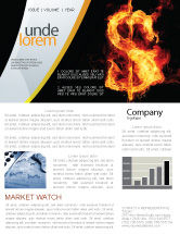 Financial/Accounting: Flaming Dollar Newsletter Template #05347