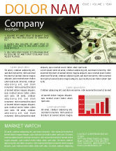 Financial/Accounting: Money and Guns Newsletter Template #05349
