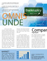Financial/Accounting: Bankrupt Newsletter Template #05652