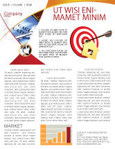 Consulting: House Target Newsletter Template #05927