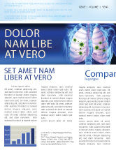 Medical: Pulmonology Newsletter Template #06243