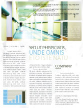 Medical: Hospital Hallway Newsletter Template #06928