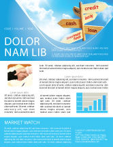 Financial/Accounting: Credits and Loans Newsletter Template #07279