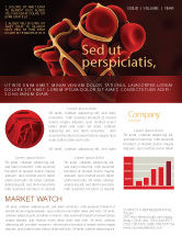 Medical: Blood Thrombus Newsletter Template #07309