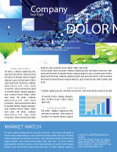 Nature & Environment: Blue Water Newsletter Template #07546