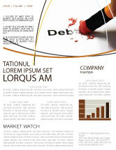 Financial/Accounting: Debt Liquidation Newsletter Template #07587