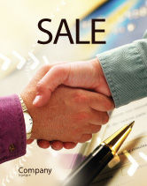 Business: Signing Agreement Sale Poster Template #00925