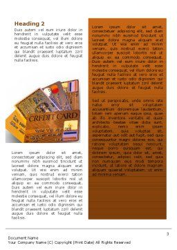 Plastic Credit Card Word Template Second Inner Page