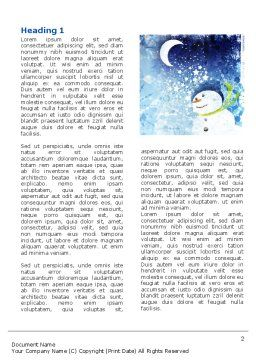 Snowman Word Template First Inner Page