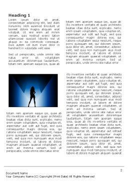 Fashion Show Word Template First Inner Page