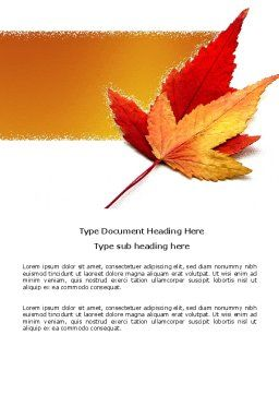 Autumn Foliage Word Template Cover Page