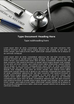Medical Record Blank Word Template Cover Page
