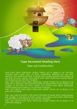 Free Noah's Ark Word Template Cover Page