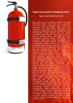 Fire Extinguisher Word Template Cover Page