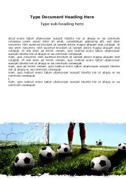 Soccer Training Word Template Cover Page