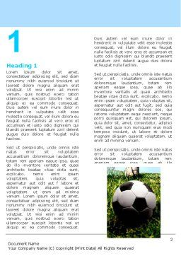 Soccer Training Word Template First Inner Page