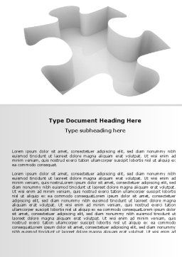 Puzzle Piece Word Template Cover Page