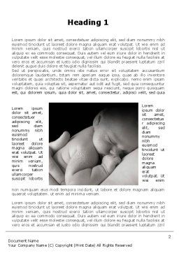 Sleeping Baby Word Template First Inner Page
