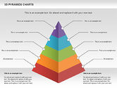 Business Models: 3D Pyramid Chart #01096