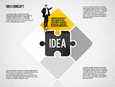 Puzzle Diagrams: Idea Puzzle Concept with People #01795