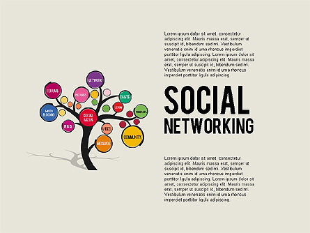 Social networking tree for powerpoint presentations for Social networking sites free templates download