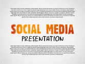 Presentation Templates: Social Media Presentation with Icons #02524