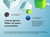 Data Driven Diagrams and Charts: Presentation Deck with Cubes on Background #03917
